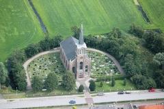 Kerkfoto van boven